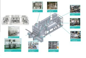 draft drawing of freeze dryer for vaccine producing